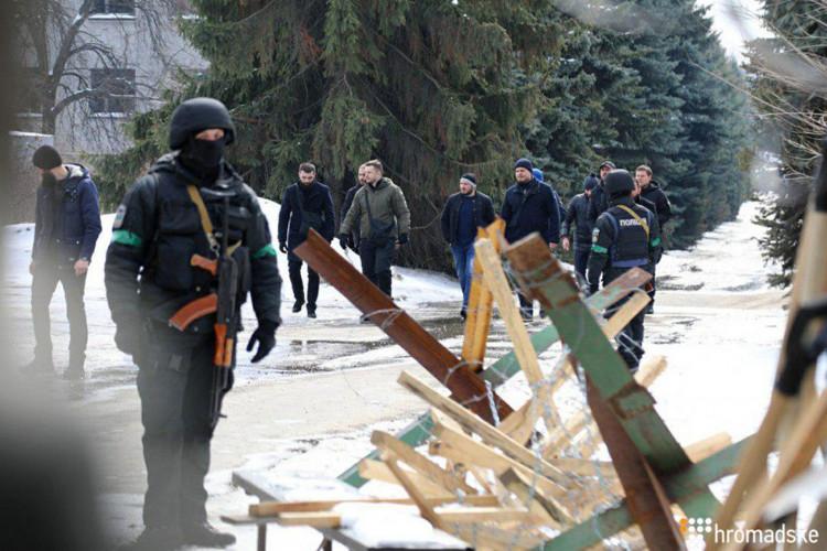 Поліція проводить слідчі дії уштабі «Нацкорпусу» уКиєві (фото, відео)