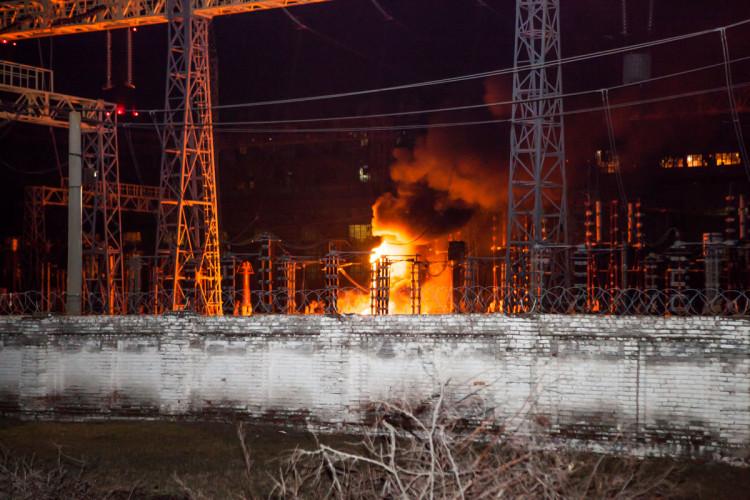 ВУкраинском государстве загорелась ПриднепровскаяТС