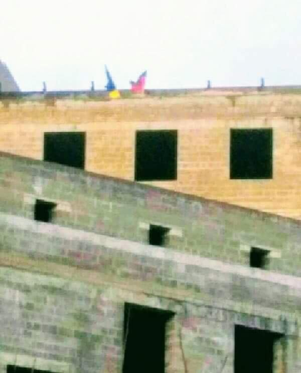 Сине-желтый  возле МГБ ДНР
