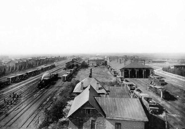 Паровозне депо у Гришиному, нинішньому Покровську