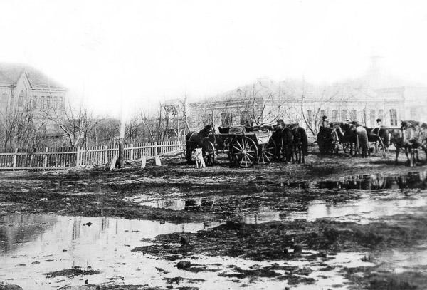 Базарна площа у Гришиному, нинішньому Покровську
